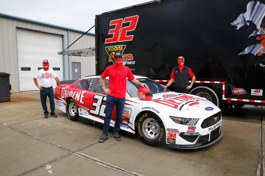 corey lajoie archie st hilaire dave klinger drydene performance products unveil gofas racing ford